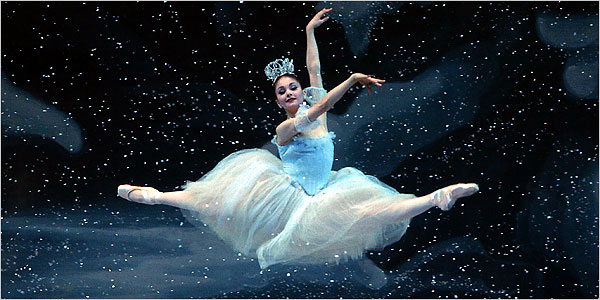 When I danced Snow in New York City Ballet's The Nutcracker. Photo by Paul Kolnik.